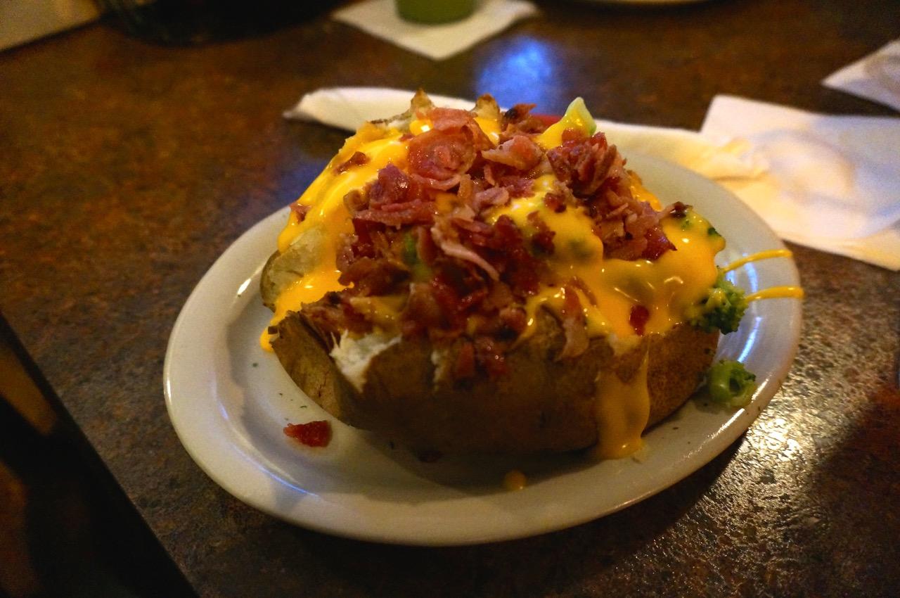 Broccoli Cheese Stuffed Potato