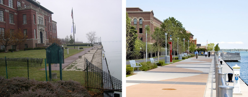 Talon center before and after RiverWalk