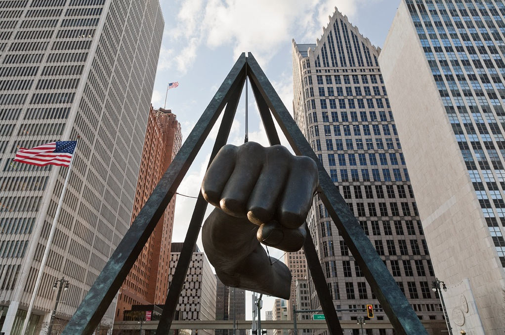 The Monument To Joe Louis. Photo credit: Nick Hagen