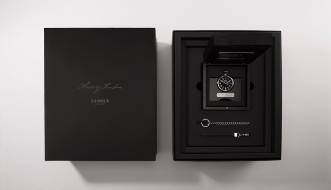 Packaging of the new Henry Ford Pocket Watch