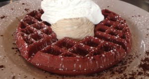 Addison Eatery Red Velvet Waffles