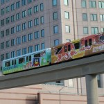 The Detroit People Mover in Downtown Detroit