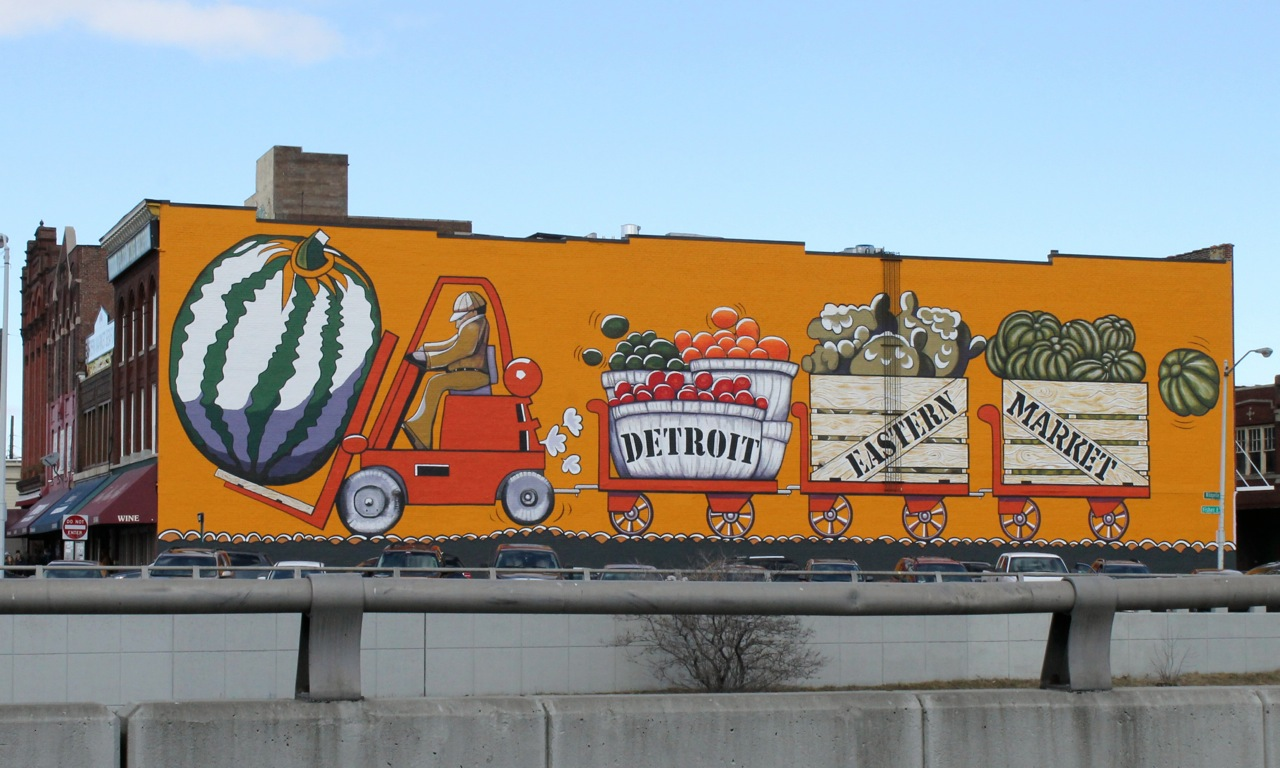 Eastern Market mural restored. Daily Detroit File Photo