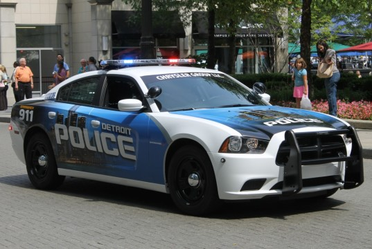 Police cruiser in Detroit (Daily Detroit File Photo)