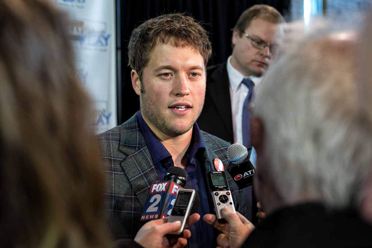 Matthew Stafford at Lipke Recreation Center. Photo: Nick Hagen