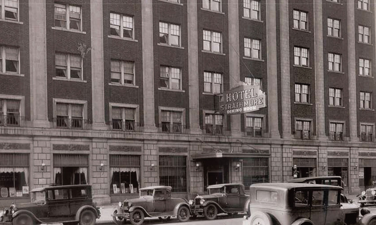 A highlight of the historic Strathmore Hotel from historic archives.