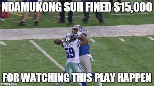 Ndamukong Suh Fined $15,000 for watching this play happen