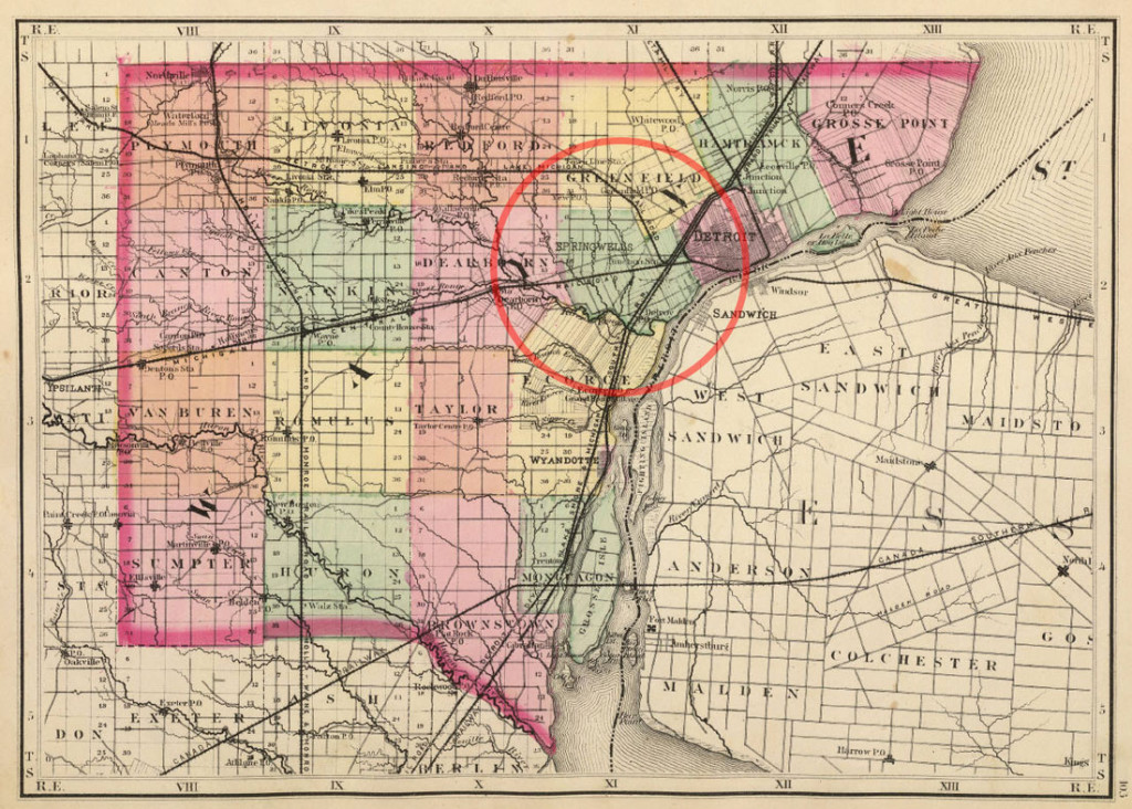 Southwest Detroit Was Originally Springwells Township