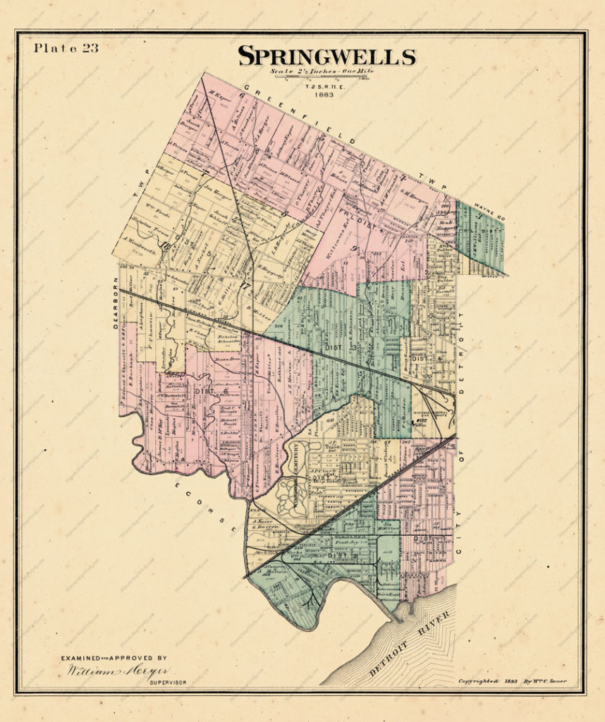 Southwest Detroit Was Originally Springwells Township (With Lots Of Maps)