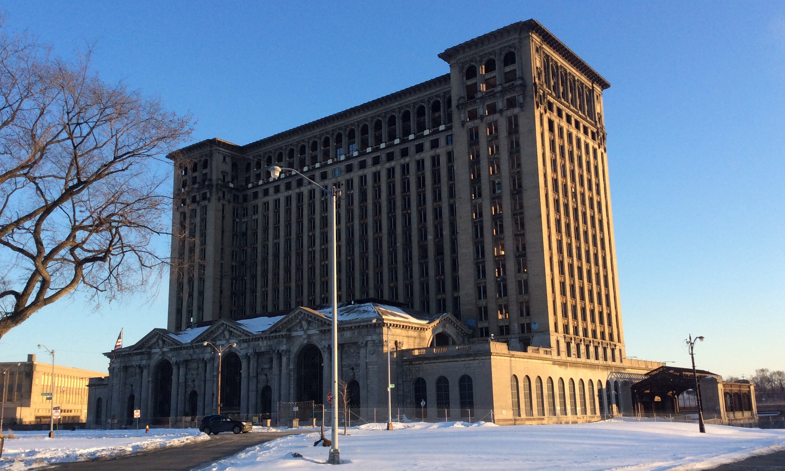 Michigan Central Station as shot today. Daily Detroit Photo