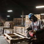 A worker at J&G Pallets. Courtesy Photo.