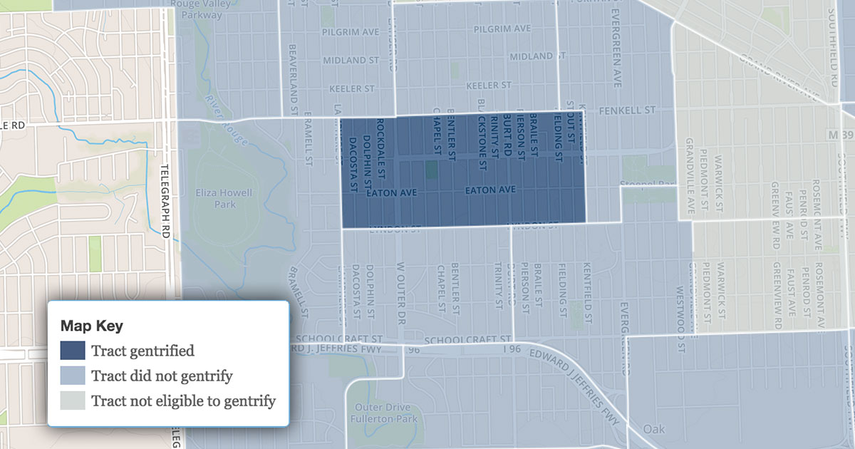 Henry Ford Hospital Campus Map.These 7 Places Where The Data Says Detroit Is Gentrifying May