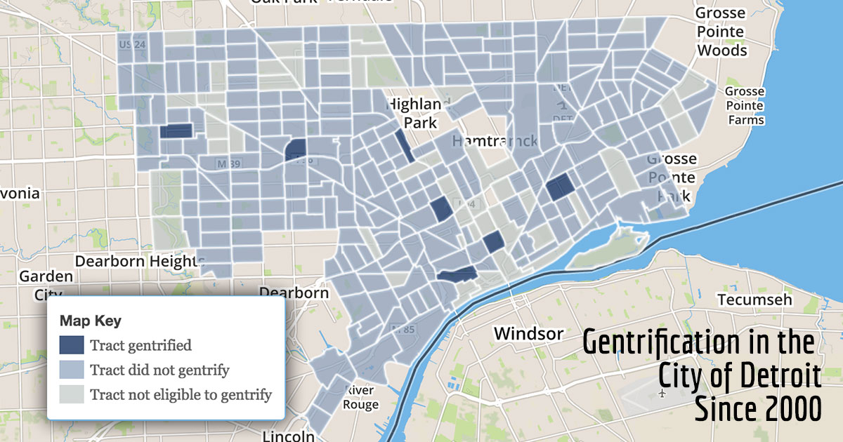 Where Detroit has gentrified
