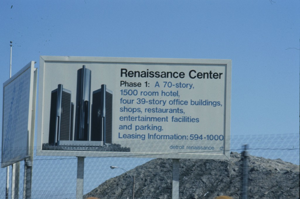 Rencen construction sign