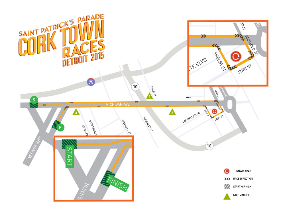 2015 Corktown Race Map