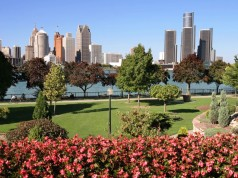 Detroit view from Windsor. Licensed Photo.