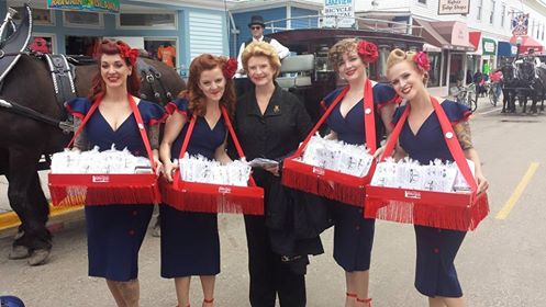 Senator Debbie Stabenow with dock greeters