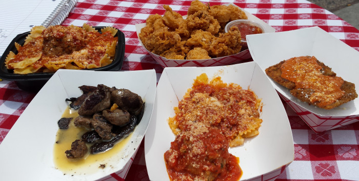 Their Portobebella Mushroom+Beef Tips is made from the ends of filet mignon, the deep-fried ravioli is stuffed with ricotta, and they make their meatballs and pasta from scratch.