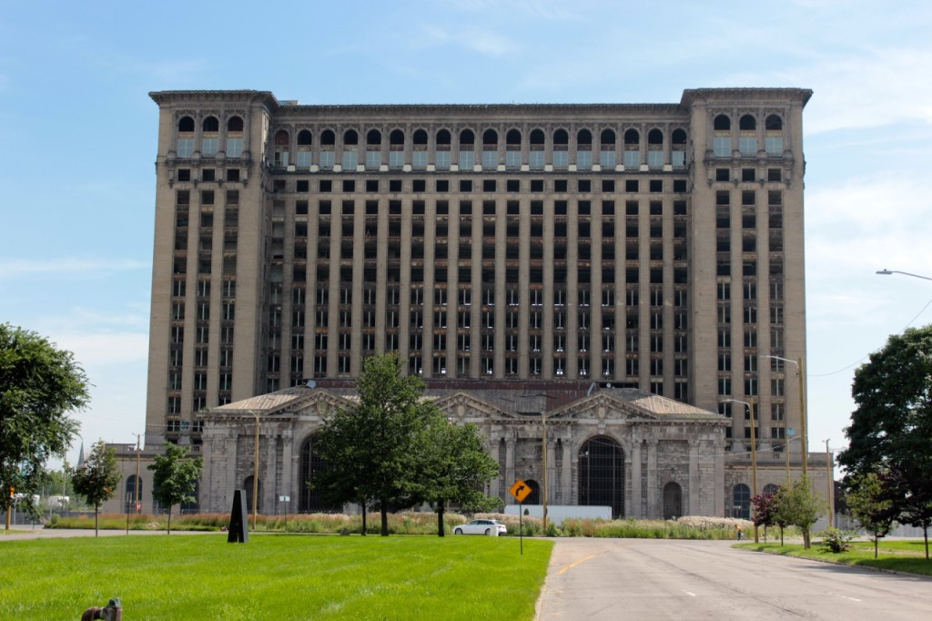 Michigan Central Station gets windows