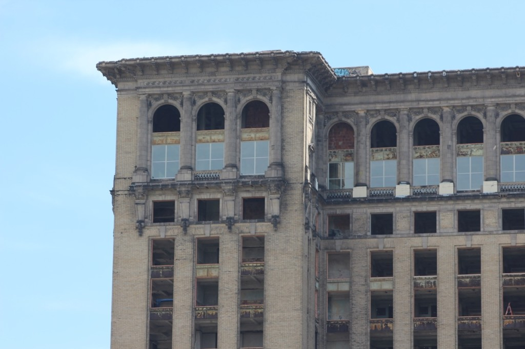 Michigan Central Station windows detail