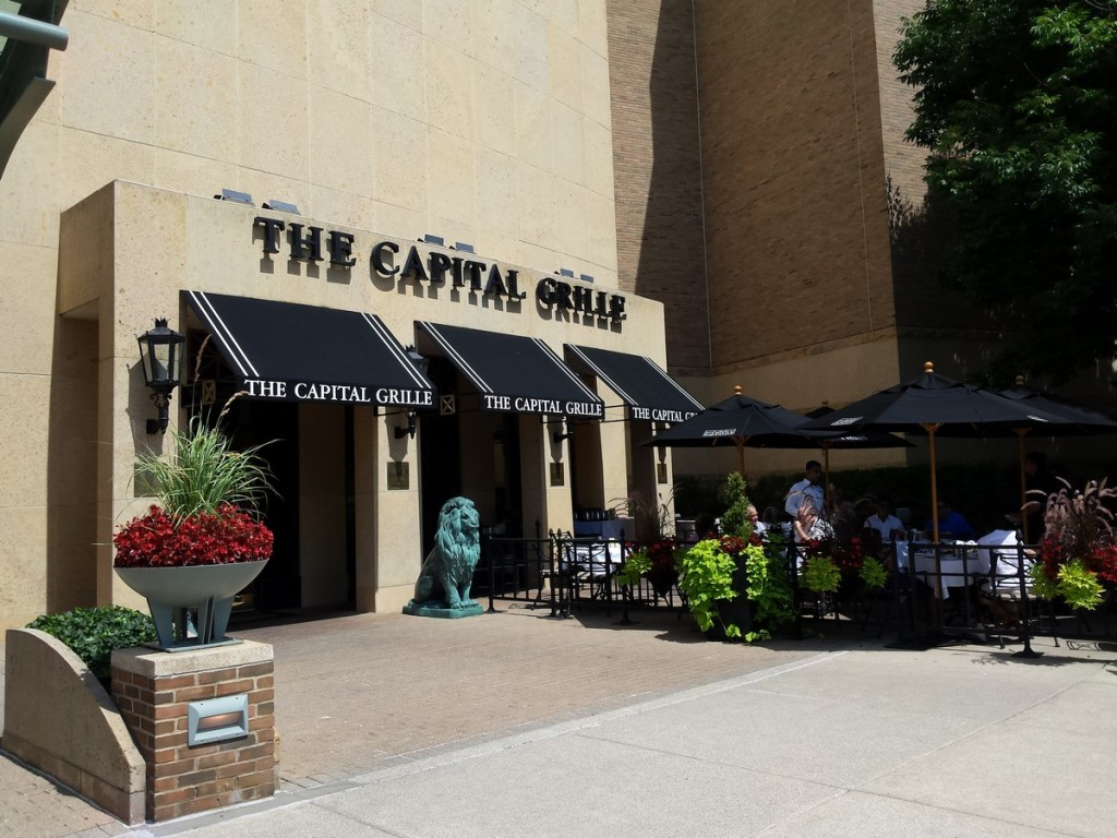 The Capital Grille has great steak.