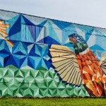 Rising Pheasant Mural in North Corktown. Created earlier this year. Daily Detroit Photo.