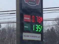 Michigan has the lowest gas prices in US right now in Houghton Lake, MI