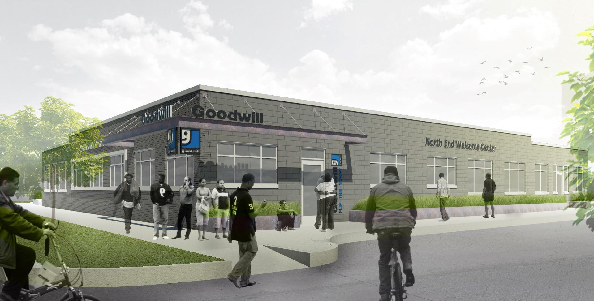 Rendering of the new Goodwill Industries center via the Kresge Foundation