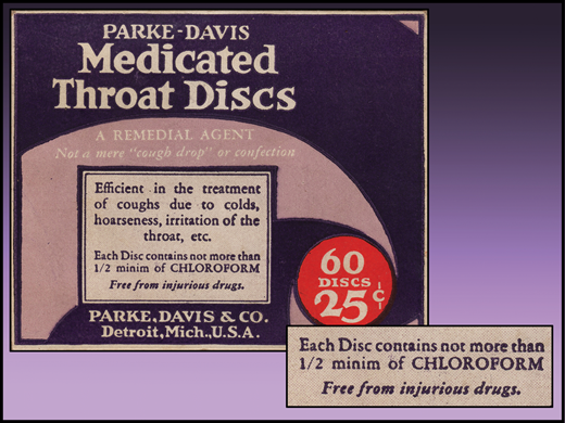 Medicated throat discs