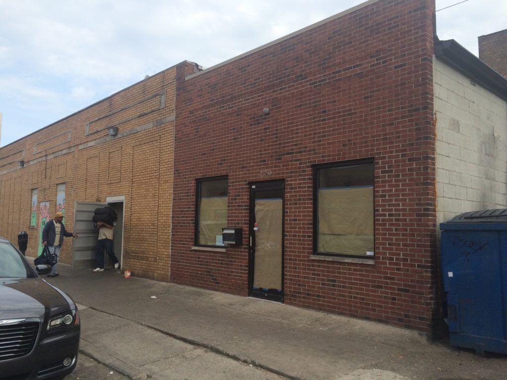 The exterior of the new Detroit City FC offices and storefront. New signage is expected to go up later this week.
