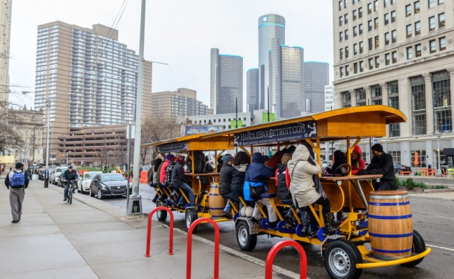 See The City Pedaling From Your Bar Stool With Handlebar