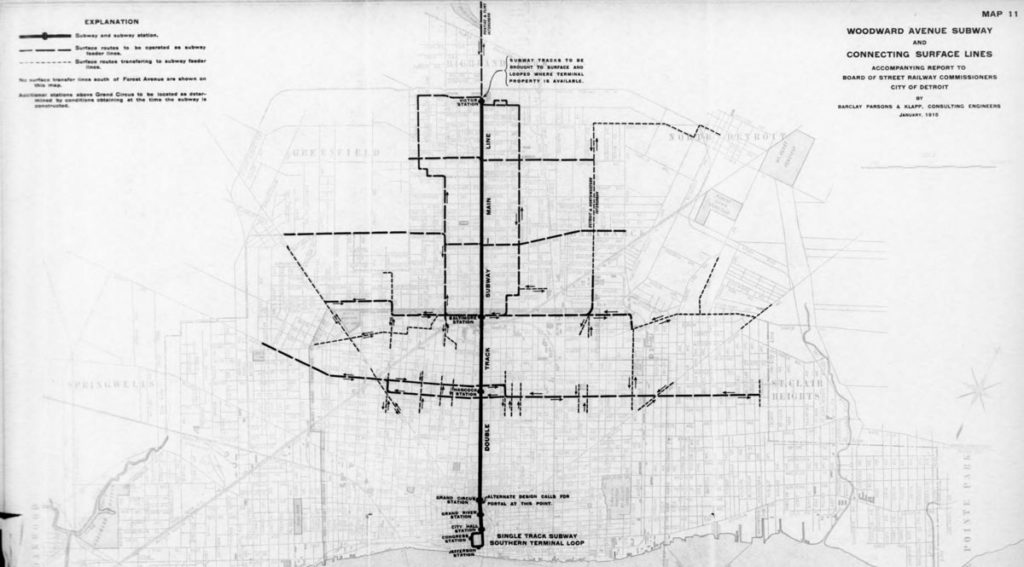 Woodward Avenue Subway Plan