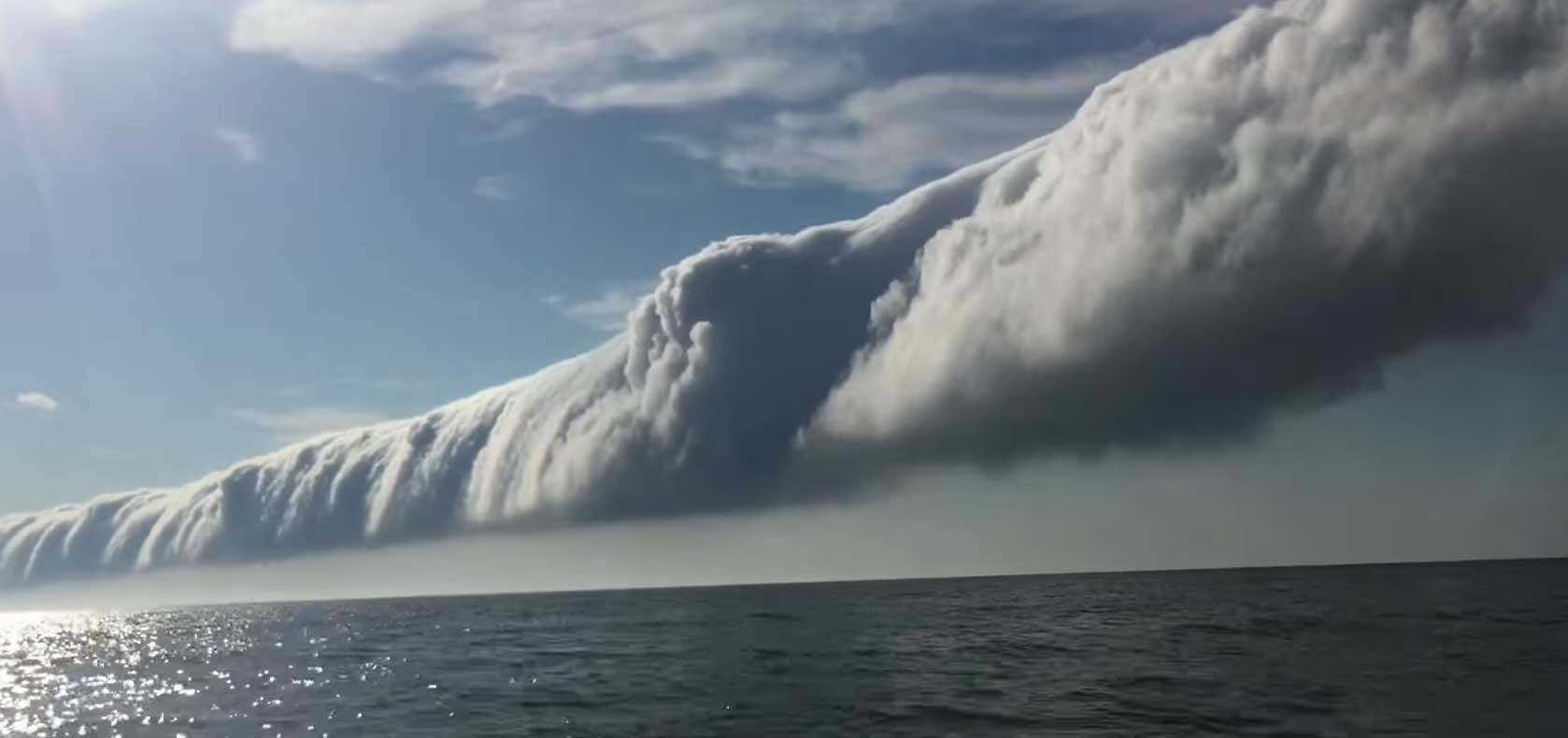 watch wild roll cloud over lake michigan at sleeping bear