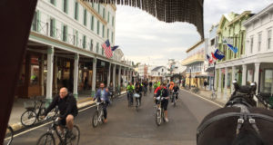 A special Slow Roll on Mackinac Island. Photo: Shianne Nocerini/Daily Detroit