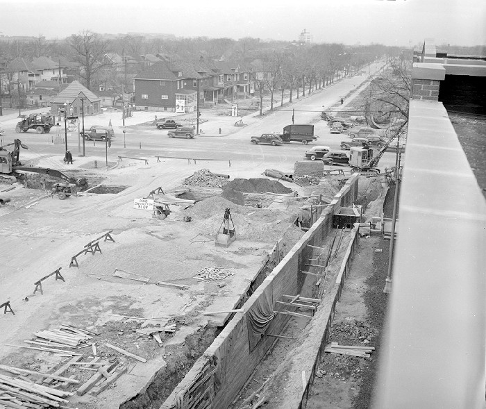 Davison widening, looking at South 3rd near Wildemere, 1941. Credit: Walter P. Reuther Library, Archives of Labor and Urban Affairs, Wayne State University