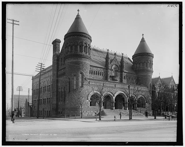 Detroit Museum of Art with first expansion. 1880-1895. LC-D4-3752 Library of Congress.