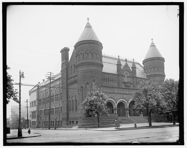 Detroit Museum of Art with expanded wings. 1900-1910. LC-D4-70011 Library of Congress.