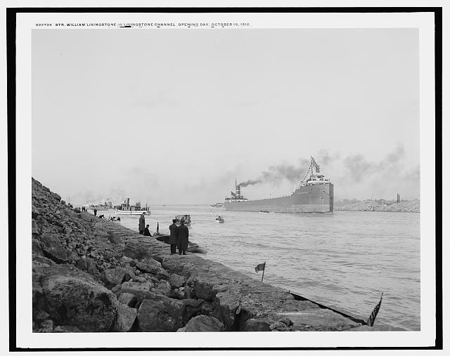 Str. William Livingstone in Livingstone Channel opening day, Oct. 19, 1912. LC-D4-22739. Library of Congress Prints and Photographs Division Washington, D.C