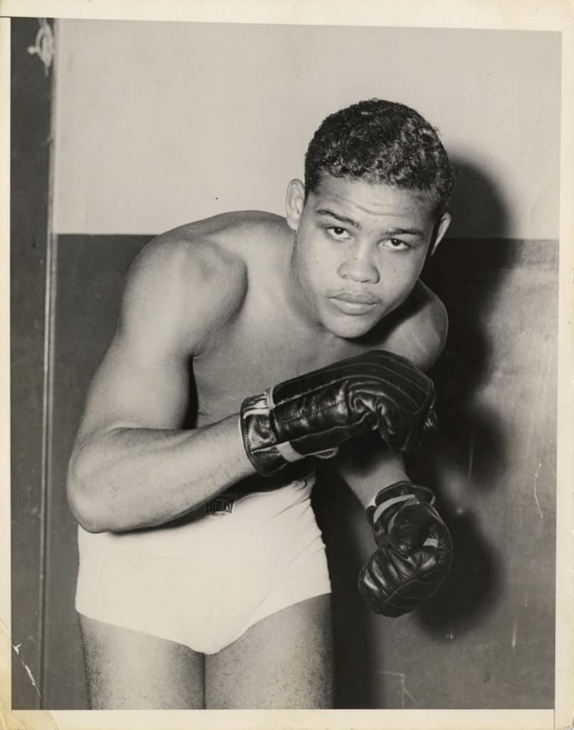 Portrait of boxer Joe Louis. Courtesy of the Burton Historical Collection, Detroit Public Library.