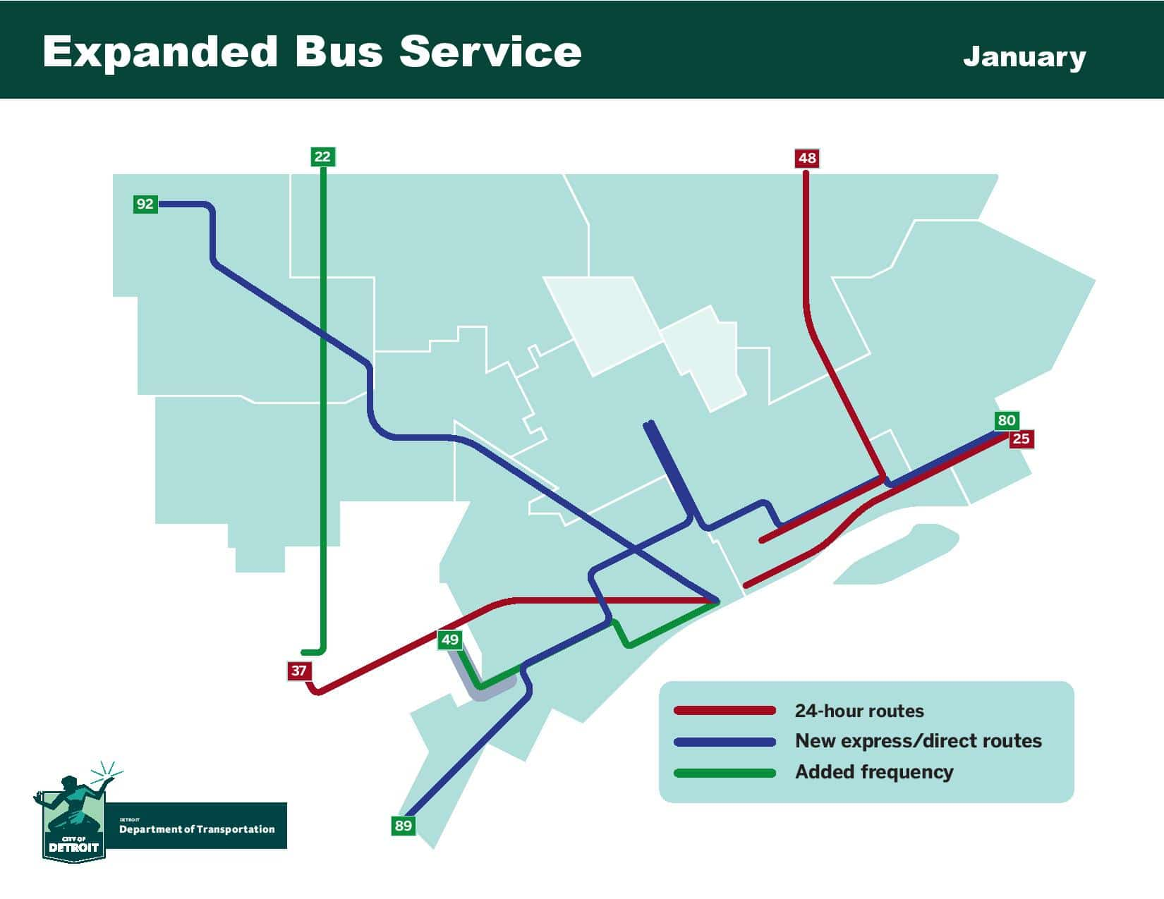 second phase of detroit's city bus service expansion begins