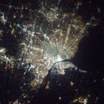 Detroit from Space Shane Kimbrough