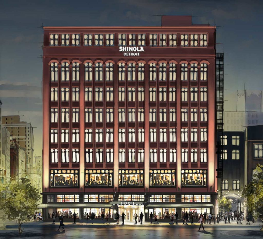 Separate Garage Block Possibly With Studio Accommodation: Work Begins In Earnest On The Shinola Hotel In Downtown