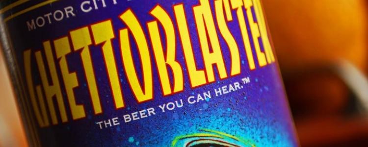 Ghetto blaster label