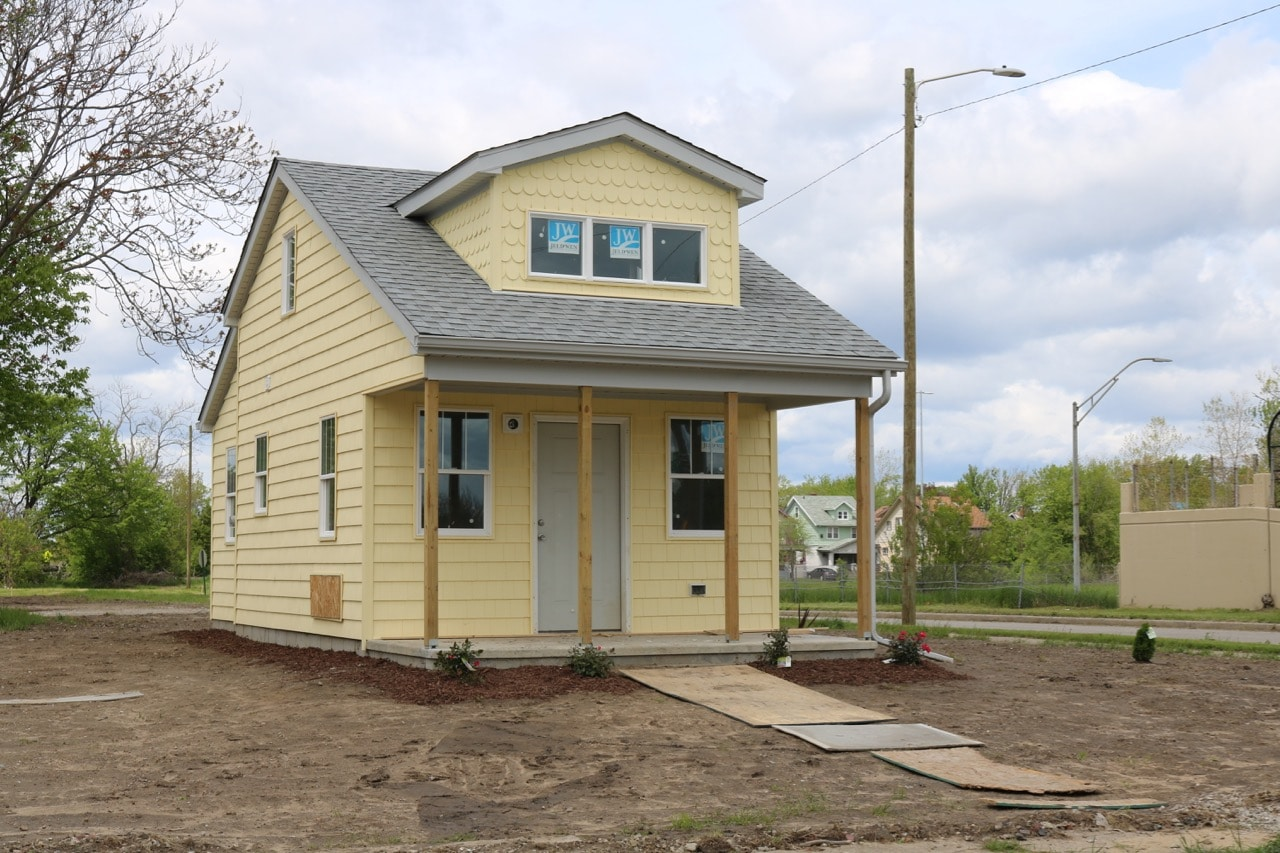 Six More Tiny Homes Appear In Detroits DexterLinwood Neighborhood