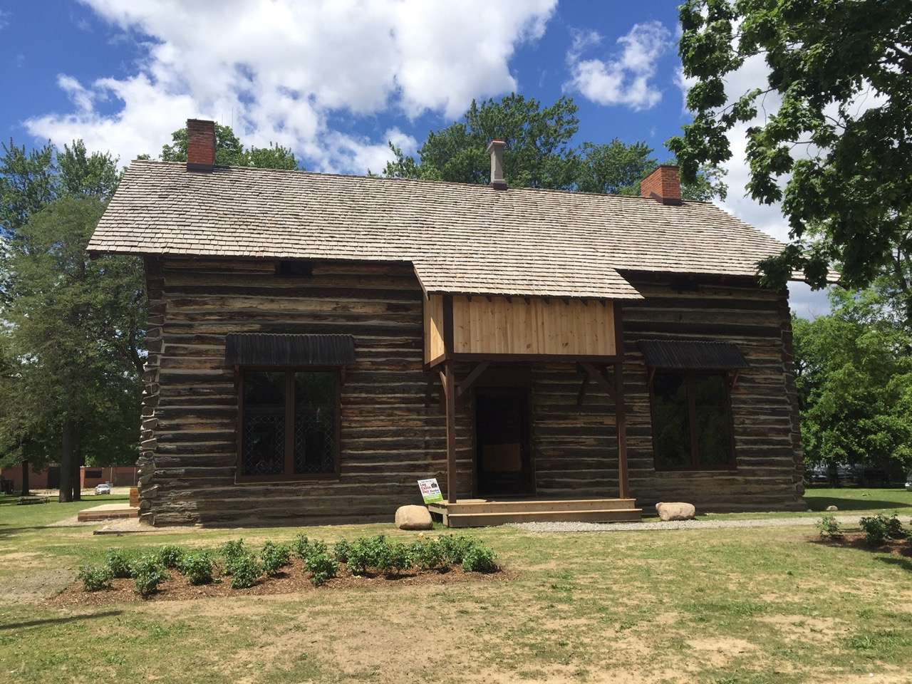 Get a sneak peek of the restoration of the historic palmer for Log cabin restoration