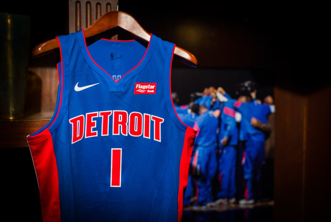 huge selection of d18fa 90557 Detroit Pistons To Wear Flagstar Bank Logos On Their Jerseys
