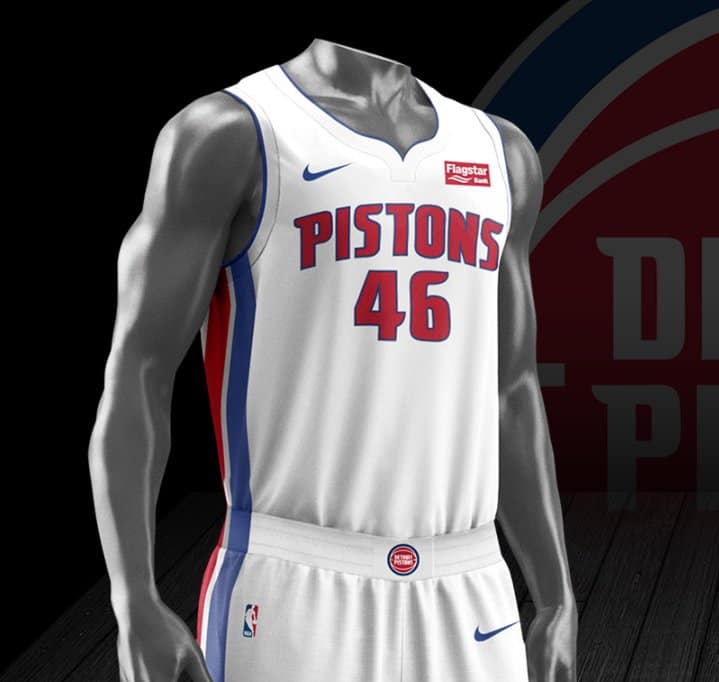 053a0ced8 The new Nike Vapor System jerseys for the Pistons were unveiled earlier  today. The design is supposed to breathe better and be lighter weight.