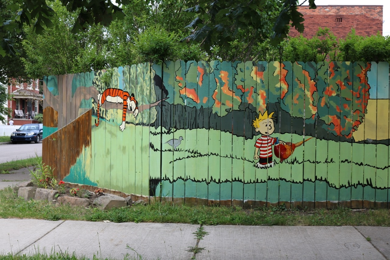 16 beautiful reasons why detroit has the best public art around calvin and hobbes with pheasant
