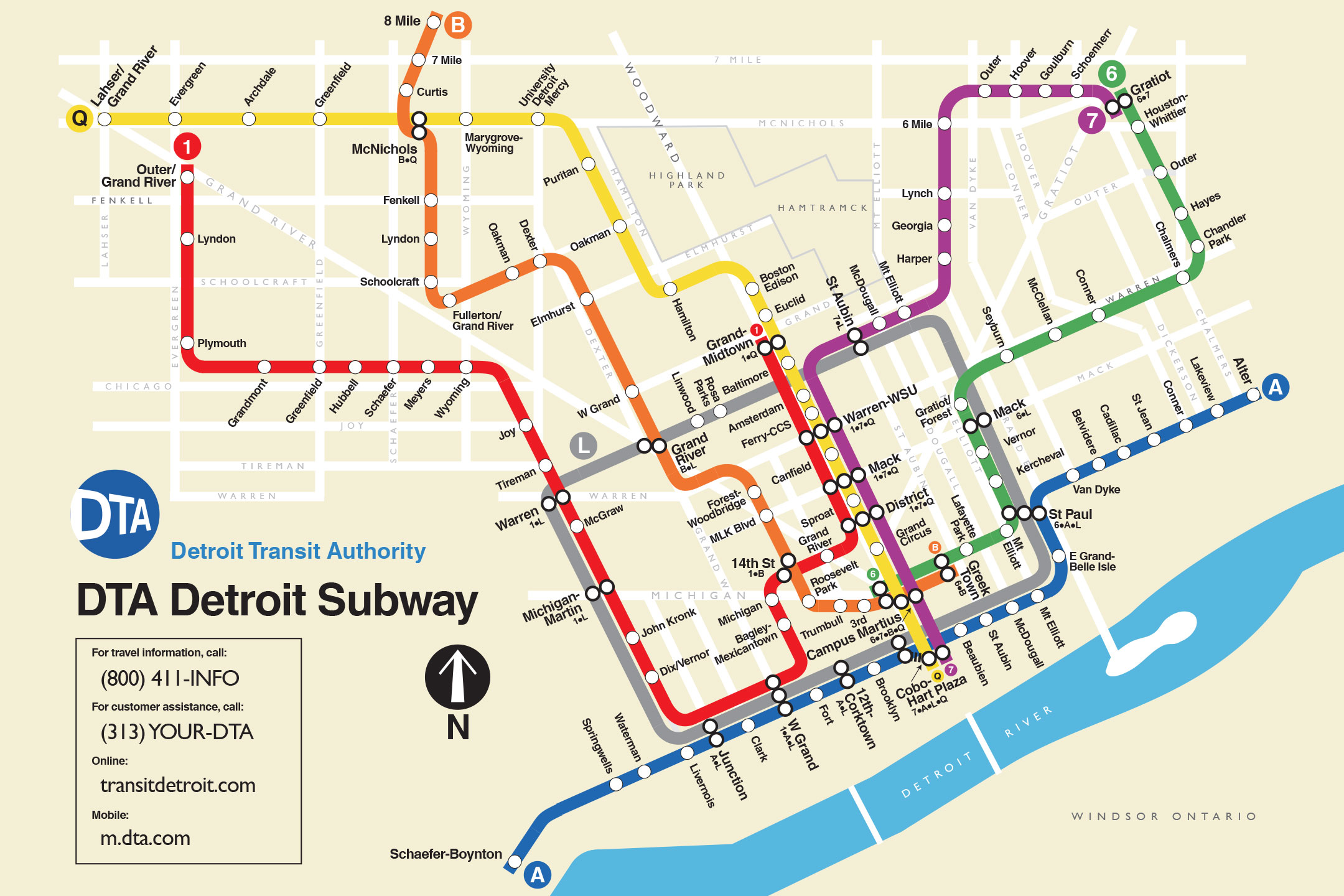 Check Out This New Fanciful Detroit Subway Map
