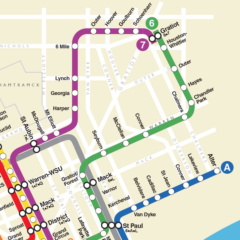 Q Line Subway Map.Check Out This New Fanciful Detroit Subway Map